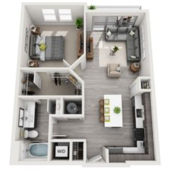 Apartment 408 floor plan