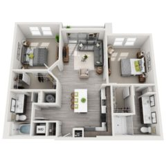 Apartment 233 floor plan