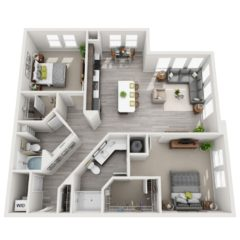 Apartment 611 floor plan