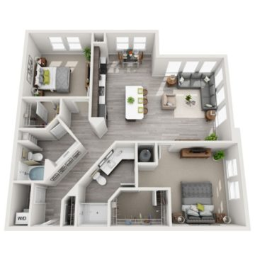 Rendering of the B5 floor plan layout