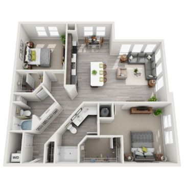 Rendering of the B7 floor plan layout