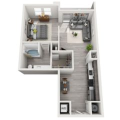 Apartment 453 floor plan