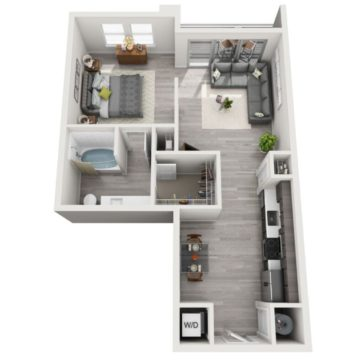 Rendering of the S5 floor plan layout